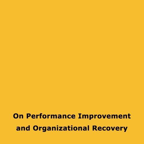 On Performance Improvement and Organizational Recovery